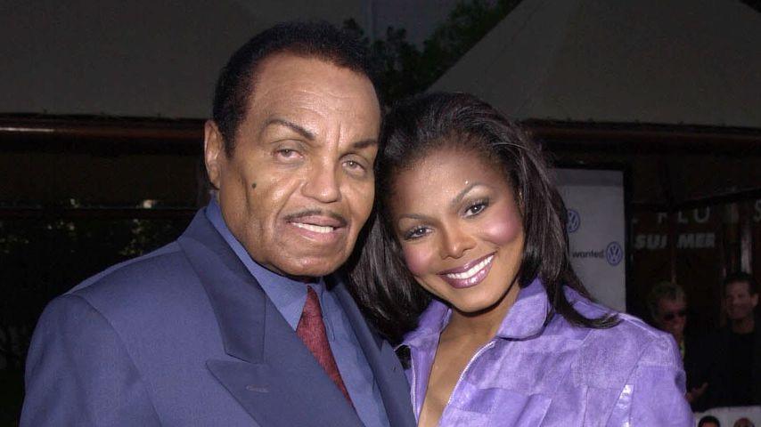 Joe Jackson und Janet Jackson bei einer Filmpremiere