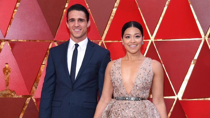 Joe LoCicero und Gina Rodriguez bei den Oscars, März 2018