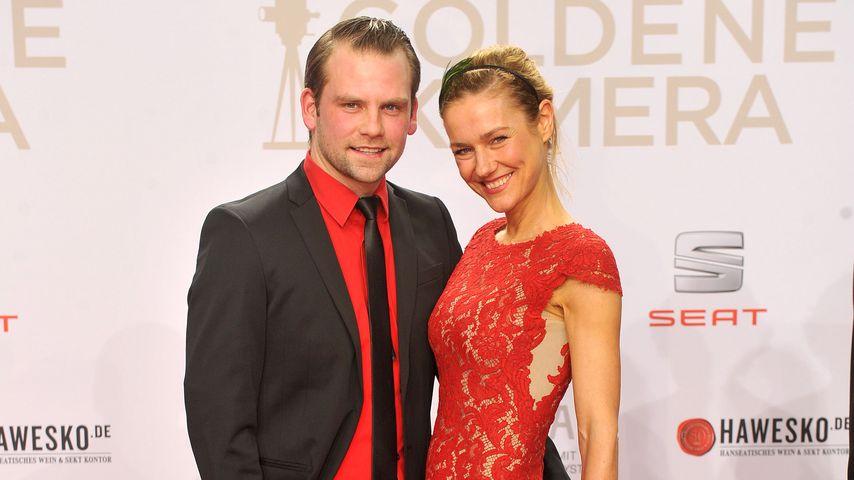 "Jörg Vennewald und Rhea Harder-Vennewald bei den ""Goldene Kamera""-Awards in Hamburg"