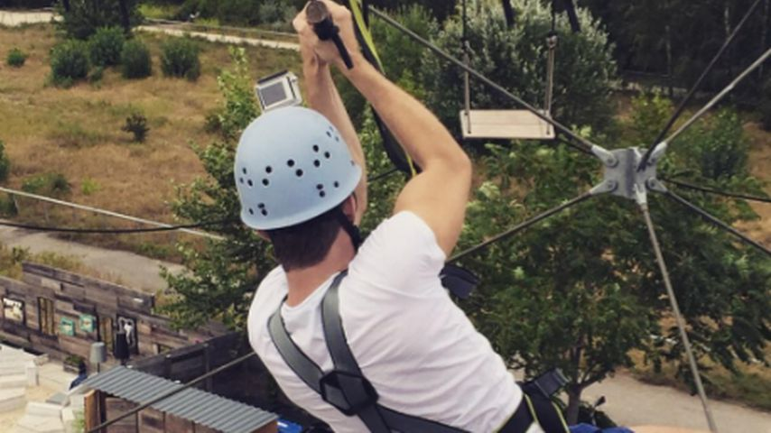Jörn Schlönvoigt im Kletterpark