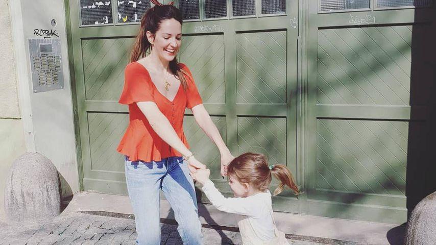 Moderatorin Johanna Klum mit ihrer Tochter, Mai 2019