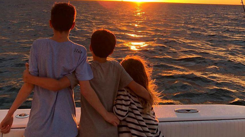 John, Benjamin und Vivian, Kinder von Tom Brady