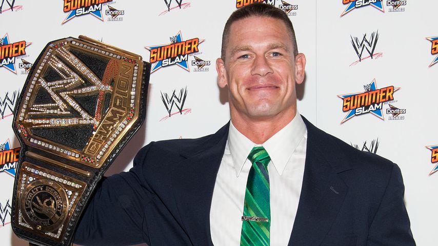 John Cena bei der Pressekonferenz des WWE SummerSlam 2013