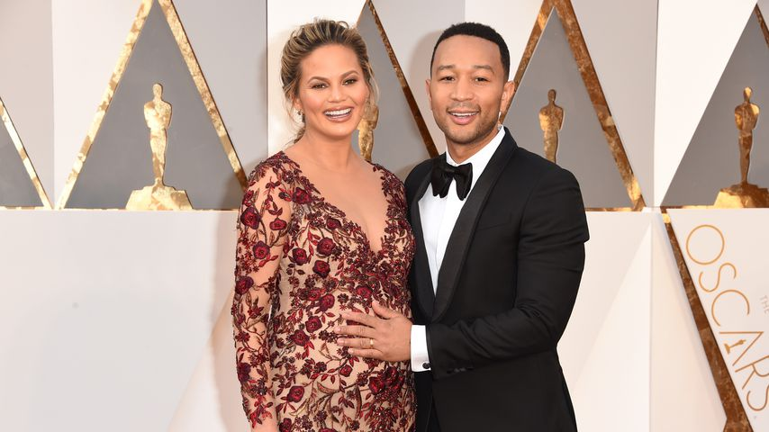 Chrissy Teigen und John Legend bei den Oscars 2016