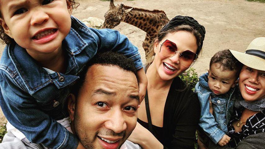 John Legend und Chrissy Teigen mit ihren Kids Luna und Miles