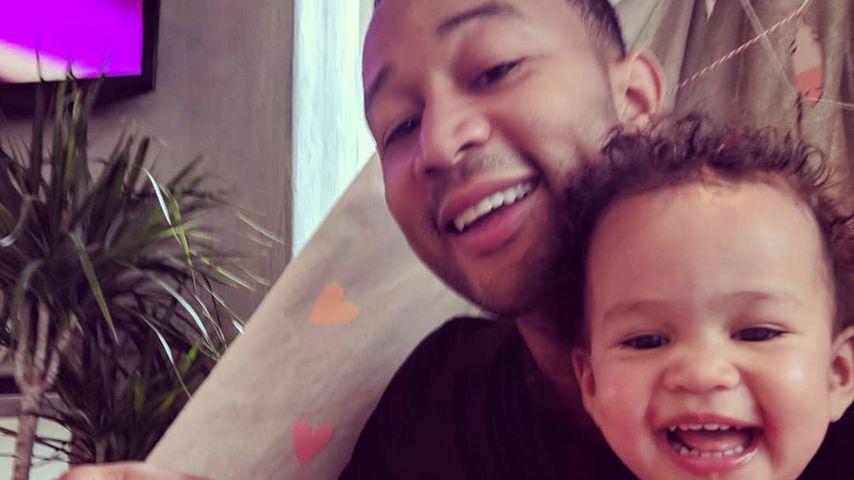 Bald große Sis: John Legend bereitet Luna auf das Baby vor