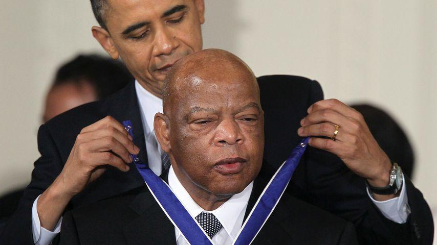 John Lewis und Barack Obama in Washington D.C. im Februar 2011