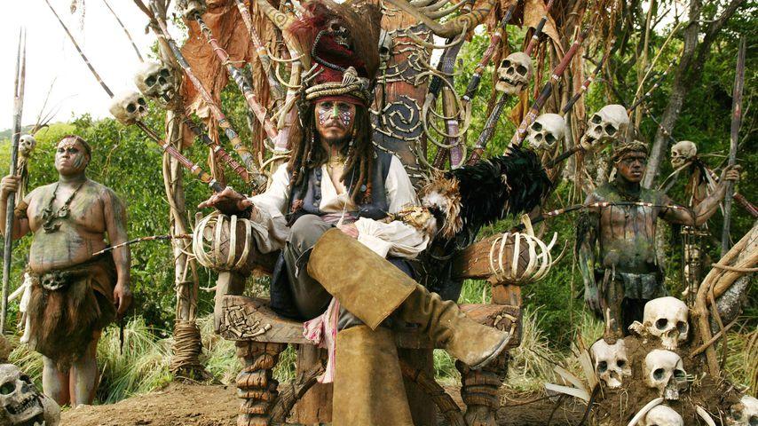 "Johnny Depp alias Jack Sparrow in ""Fluch der Karibik 2"""