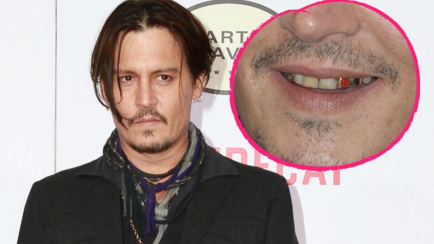 Bleaching-Boykott: Johnny Depp zeigt seine Ekel-Zähne!