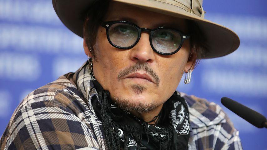 """Johnny Depp bei der """"Minamata""""-Pressekonferenz in Berlin im Februar 2020"""