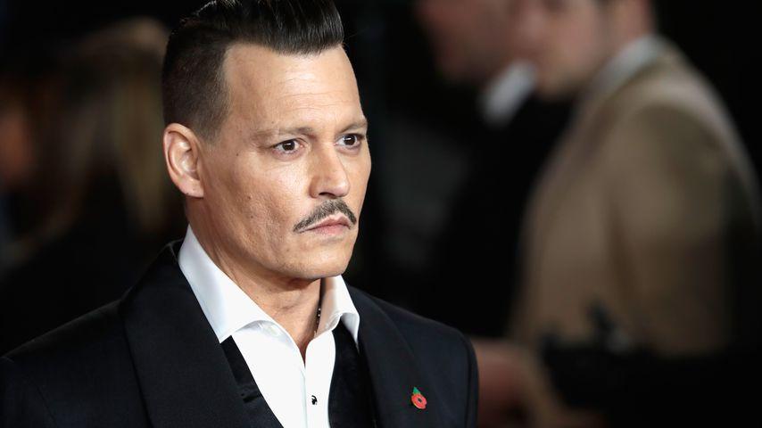 """Johnny Depp bei der """"Mord im Orientexpress""""-Premiere in London im November 2017"""