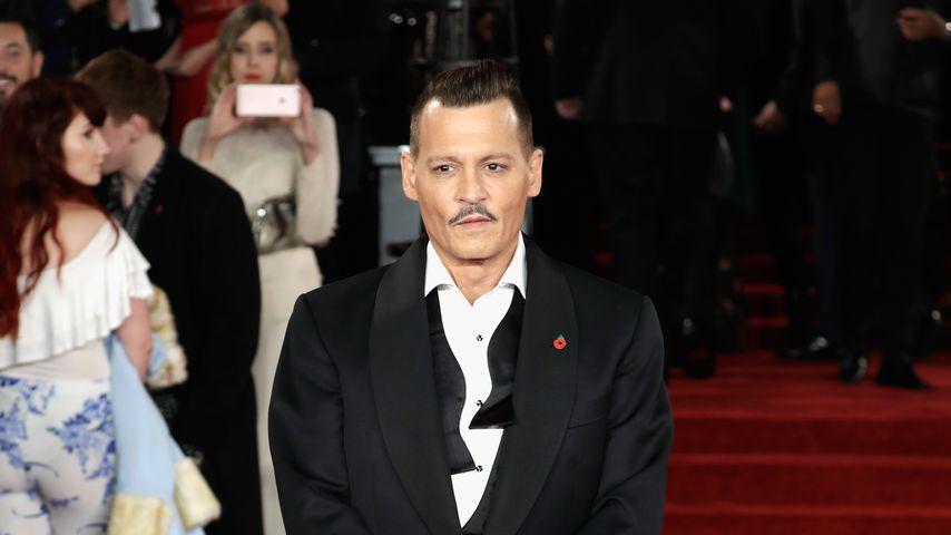 """Johnny Depp bei der """"Mord im Orientexpress""""-Premiere 2017"""