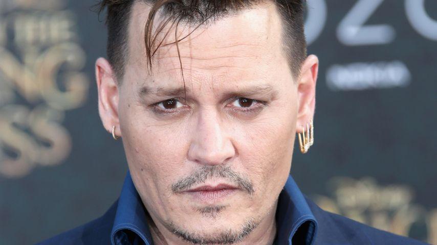 """Johnny Depp bei der """"Alice im Wunderland""""-Premiere 2016 in Los Angeles"""