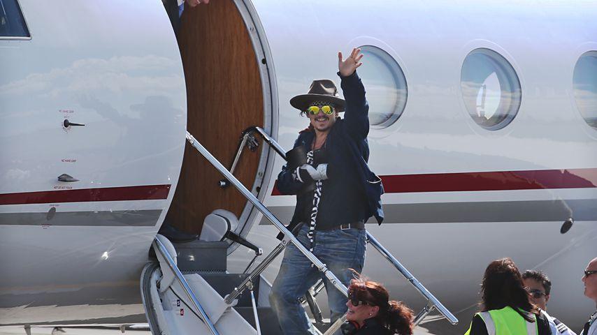 Johnny Depp in Brisbane 2015