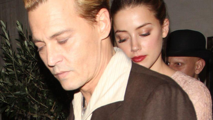 Keine Trennung! Johnny Depp mit Amber in London
