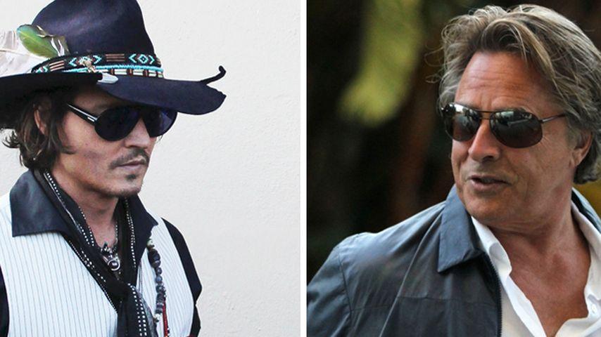 Johnny Depp ging mit Gewehr auf Don Johnson los