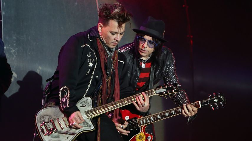 "Johnny Depp und Joe Perry bei ""Rock in Rio Lisboa"""