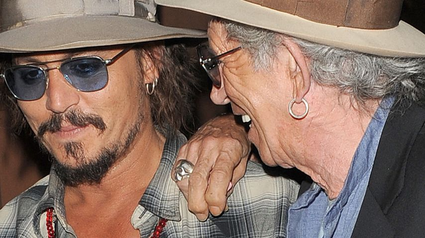 Johnny Depp malt Keith Richards