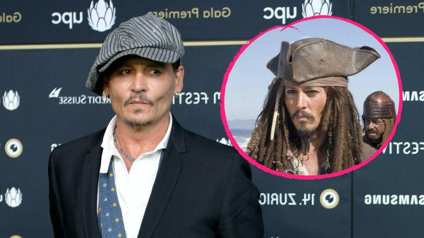 Johnny Depp wurde in seiner Sauna zu Captain Jack Sparrow!