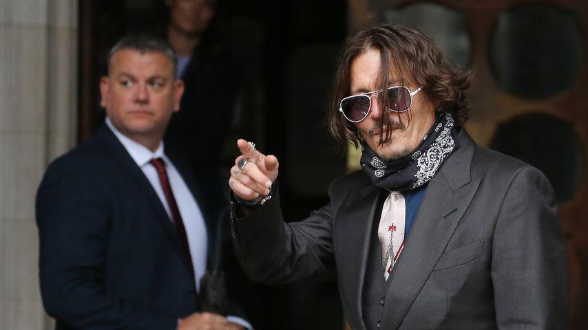 Johnny Depp am High Court in London im Juli 2020