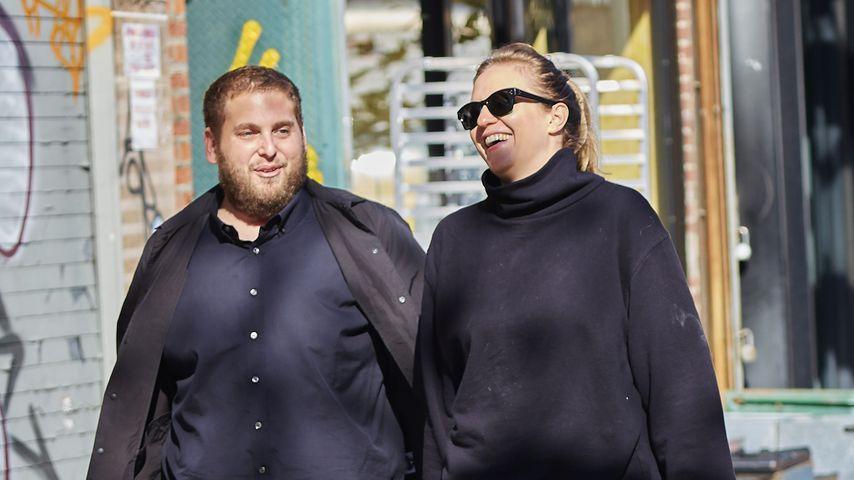 Jonah Hill und seine Schwester Beanie Feldstein in New York City