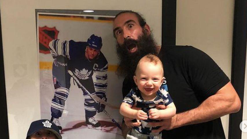 Jonathan Huber und seine Söhne