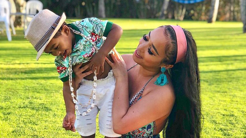 Jordan Craig und ihr Sohn Prince