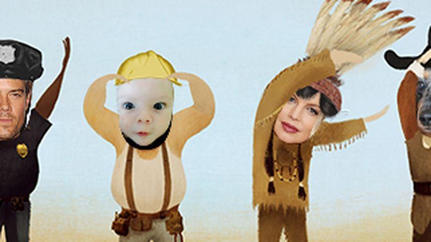 Süß! Fergie, Axl & Josh Duhamel als Village People