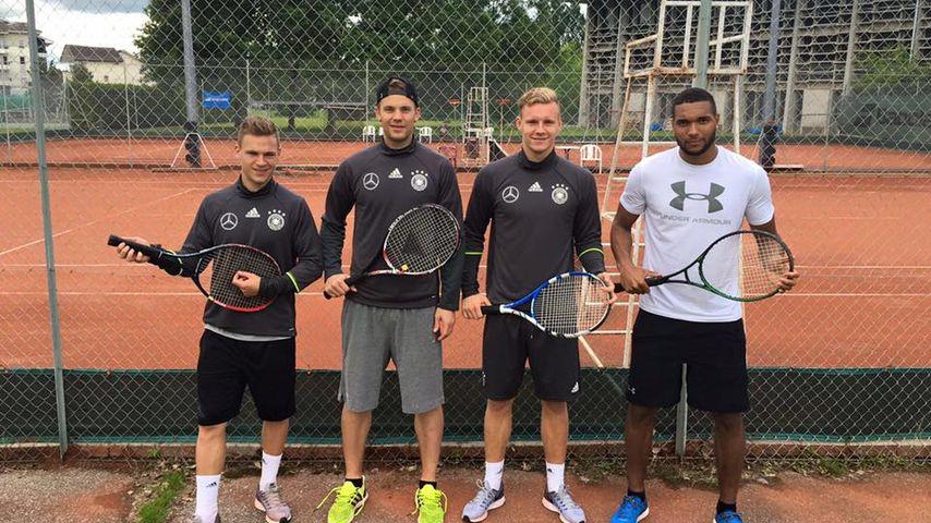 Joshua Kimmich, Manuel Neuer, Bernd Leno und Jonathan Tah während der EM 2016 in Frankreich