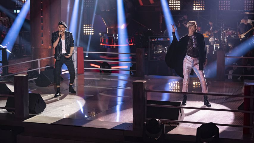 "Juan Geck und Keye Katcher bei ""The Voice of Germany"""