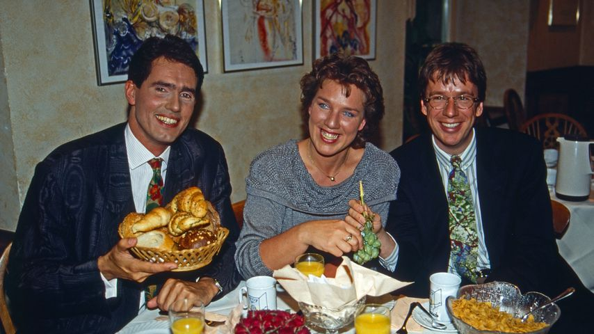 Jürgen Drensek, Julitta Münch und Jörg Kachelmann 1992