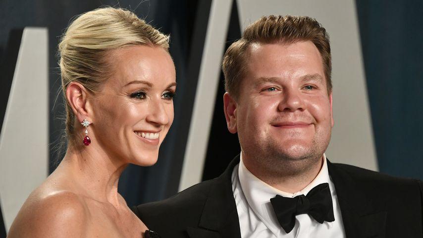 Julia Carey und James Corden bei der Vanity Fair Oscar Party 2020
