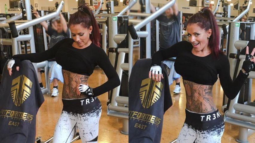 Fitness-Freak! Ex-BTN-JJ super stolz auf ihren Flach-Bauch