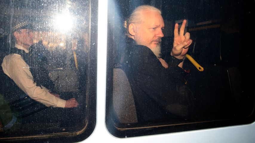 Julian Assange im April 2019