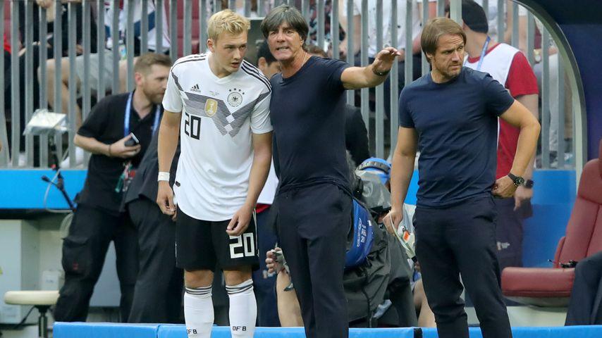 Julian Brandt, Joachim Löw und Thomas Schneider