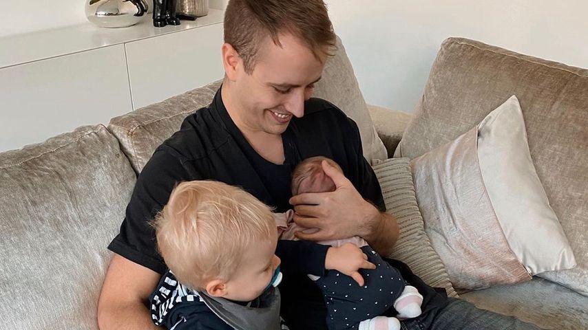 Julian Claßen mit seinen Kindern Lio und Emily