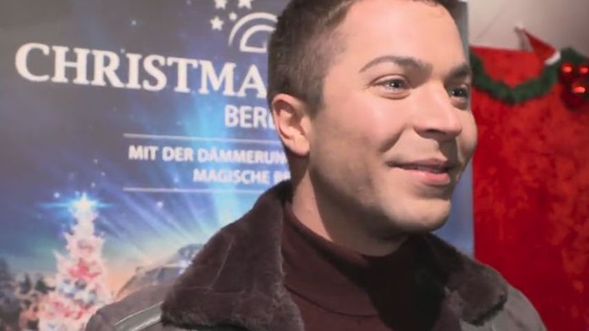 Julian David bei der Eröffnung des Christmas Garden in Berlin