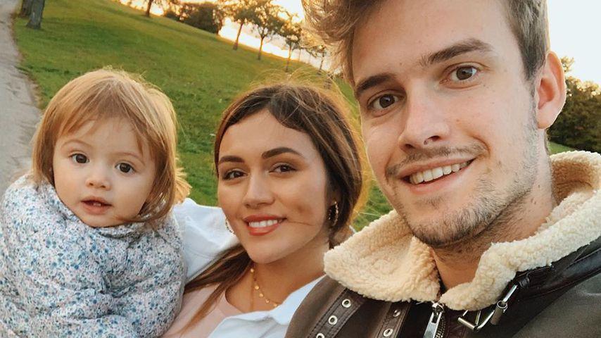 Julian Gutjahr mit Anna Maria Damm und Tochter Eliana, November 2019