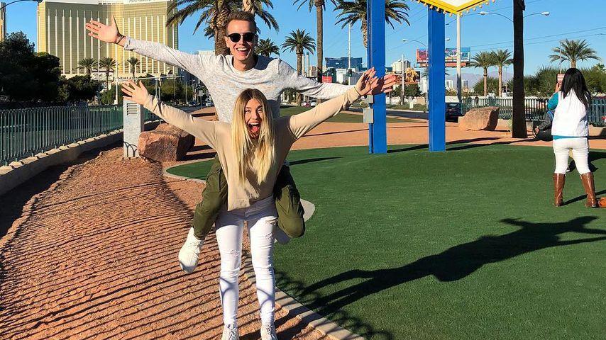 YouTube-Star Bibi Heinicke mit ihrem Freund Julian in Las Vegas