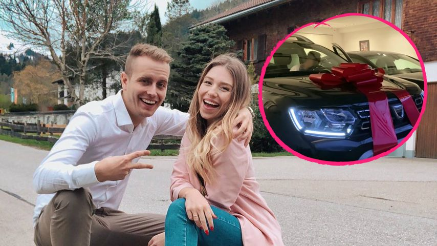 So spendabel: Bibi und Julian schenkten Schwester ein Auto!