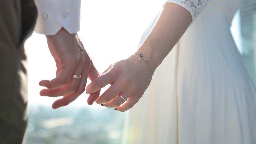 Julian und Bibi Claßen am Tag ihrer Hochzeit in Köln