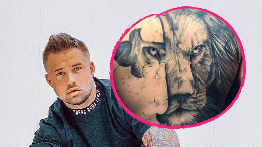 Tattoo-Fail: Juliano lässt Jades Portrait mit Löwen covern