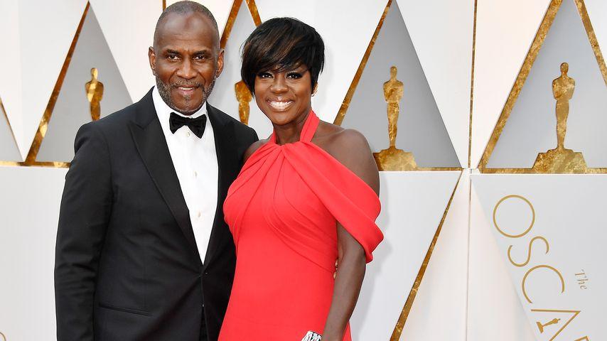 Julius Tennon und Viola Davis bei der Oscar-Verleihung in Hollywood 2017