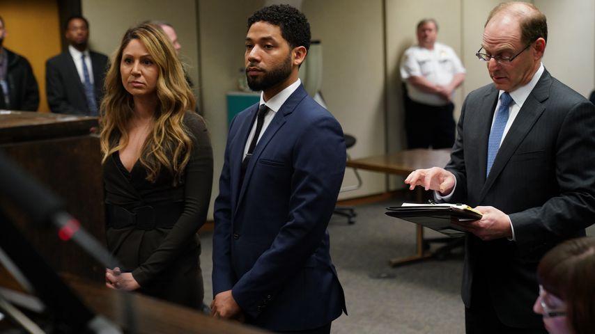 Jussie Smollett bei einer Anhörung in Chicago im März 2019