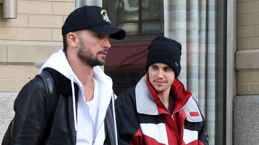 Carl Lentz und Justin Bieber in New York