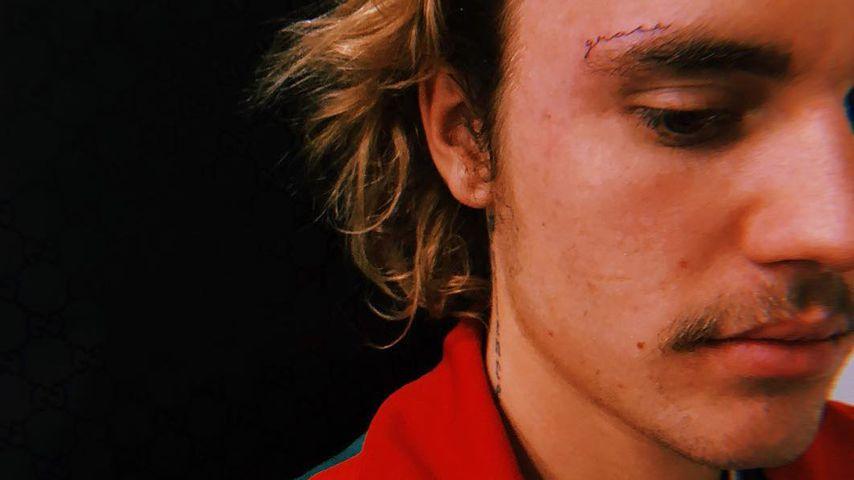 Überraschung: Justin Bieber hat jetzt ein Gesichtstattoo