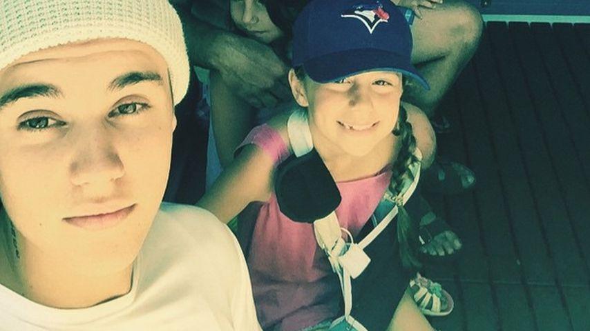 Liebevoll! Justin Bieber mit Geschwistern im Disneyland
