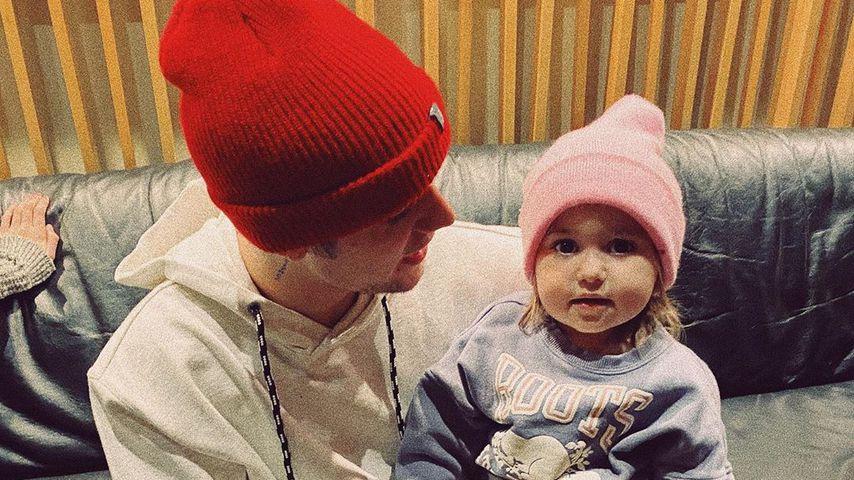 Justin Bieber mit seiner kleinen Schwester Bay