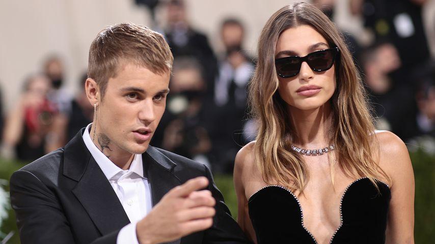Justin Bieber mit seiner Frau Hailey bei der Met Gala im September 2021
