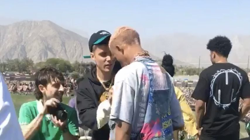 Justin Bieber und Jaden Smith auf dem Coachella-Festival
